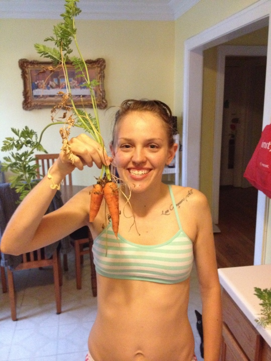 Very proud of my first homegrown carrots!