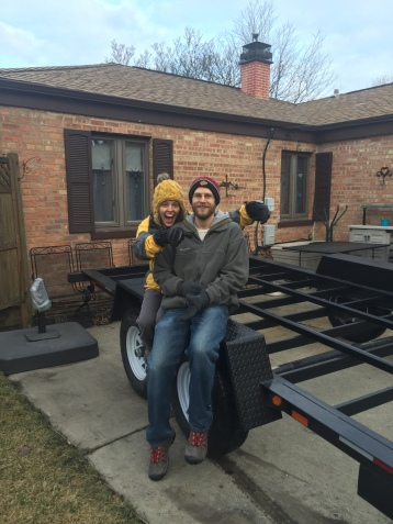 3.26.15 Our trailer arrived!! We we're so excited!