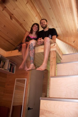 Us in our tiny house!